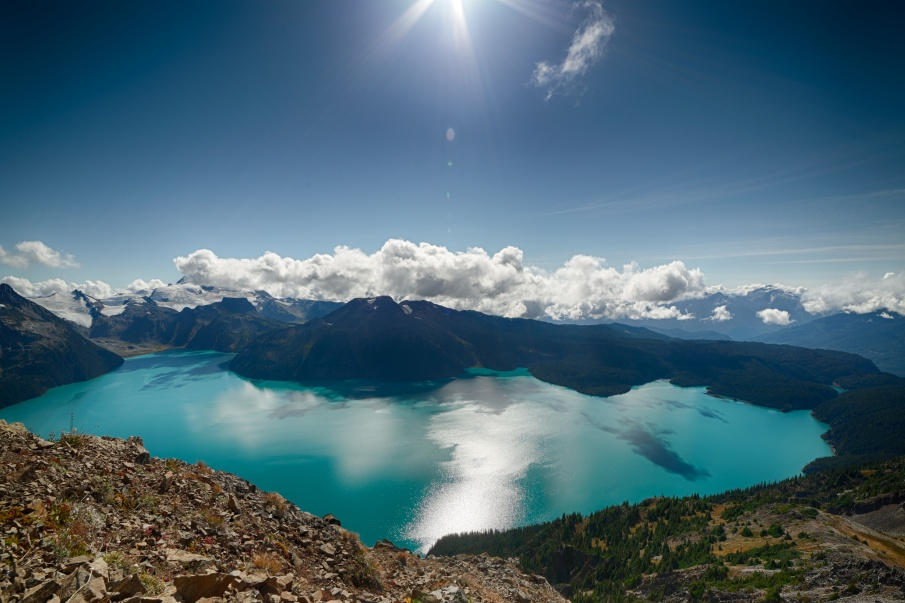 Love the view. View of Garibaldi lake from Panorama Ridge.